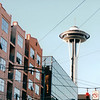 Downtown Seattle Showing Space Needle or Sky City Restaurant  5-29-98