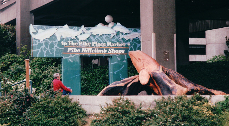 Pike Place Market - Seattle, WA  5-29-98<br /> The Hillclimb, a skywalk with elevators and stairs, connects the market with the waterfront.