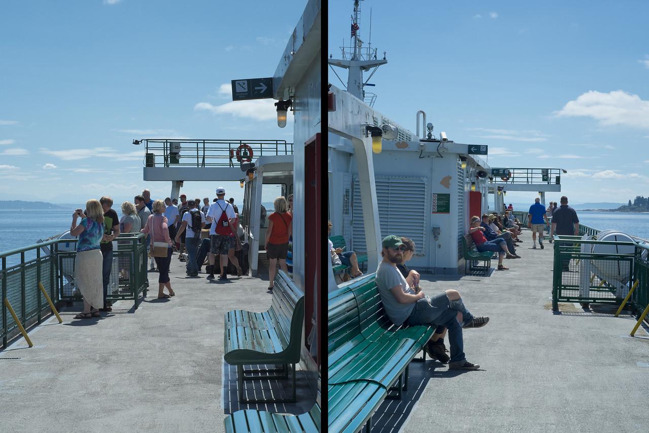 18 August 2013.  Bainbridge Island Ferry traveling back to Seattle WA.