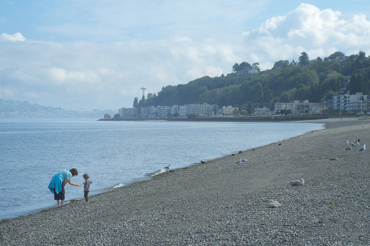 16 August 2013.  View from Alki Beach, West Seattle WA.