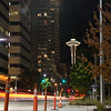 20161004.  View from of Space Needle from 6th Avenue between Bell Street and Blanchard Street , Seattle WA.
