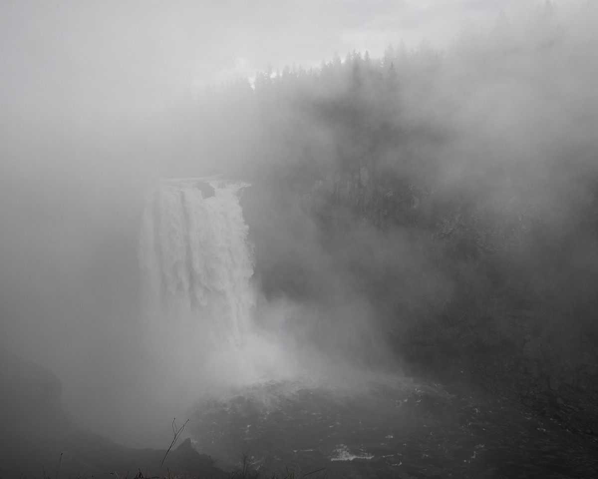 25 December 2013.  Snoqualmie Falls in the fog.