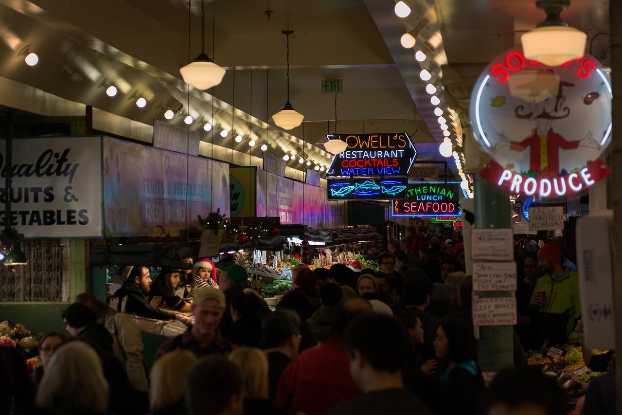 24 December 2013.  Pike Place Market, Seattle.