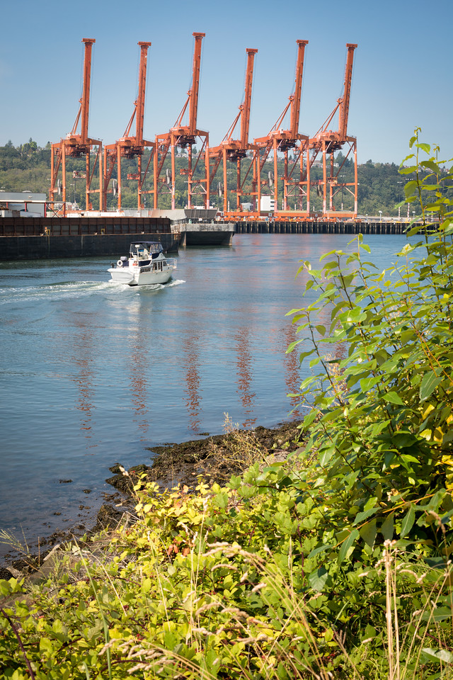 20160820. View across Duwamish West Waterway from near 16th Ave SW, Harbor Island, Seattle WA.