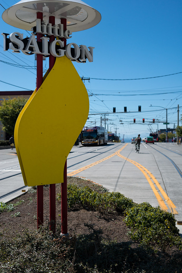 20160811.  Little Siagon sign in Chinatown/International District, on S. Jackson St. Seattle, Wa.