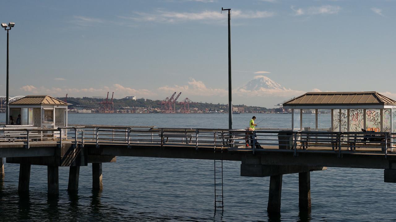 20160910.  Public fishing pier along Elliott Bay Trail, Seattle WA.