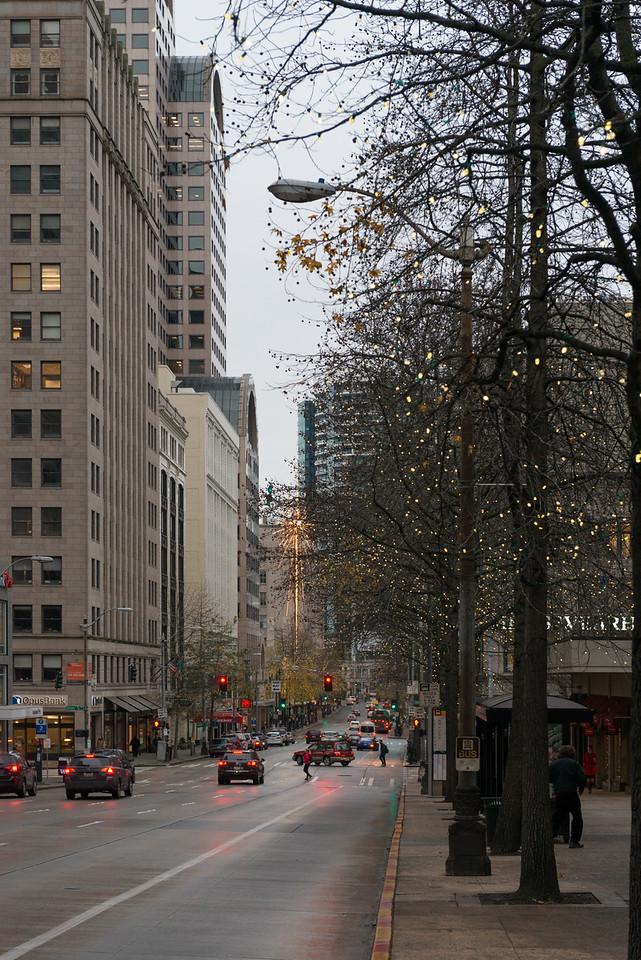 20141223. View along 4th Avenue, Seattle WA.