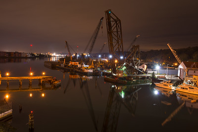 20160924.  Southward view of Duwamish Waterway from SW Spokane Street bridge, Seattle WA.