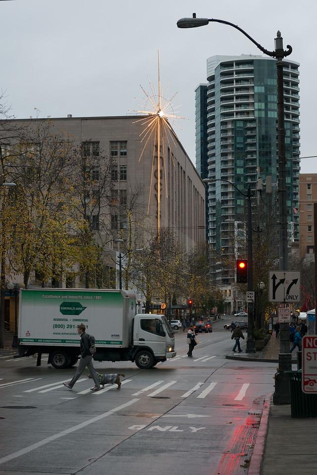 20141223. Macy's Star on 4th Avenue, Seattle WA.