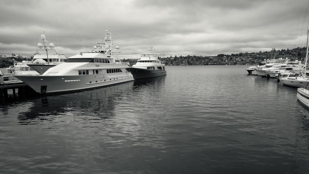 20151224.  Boats on Lake Union, Seattle WA.