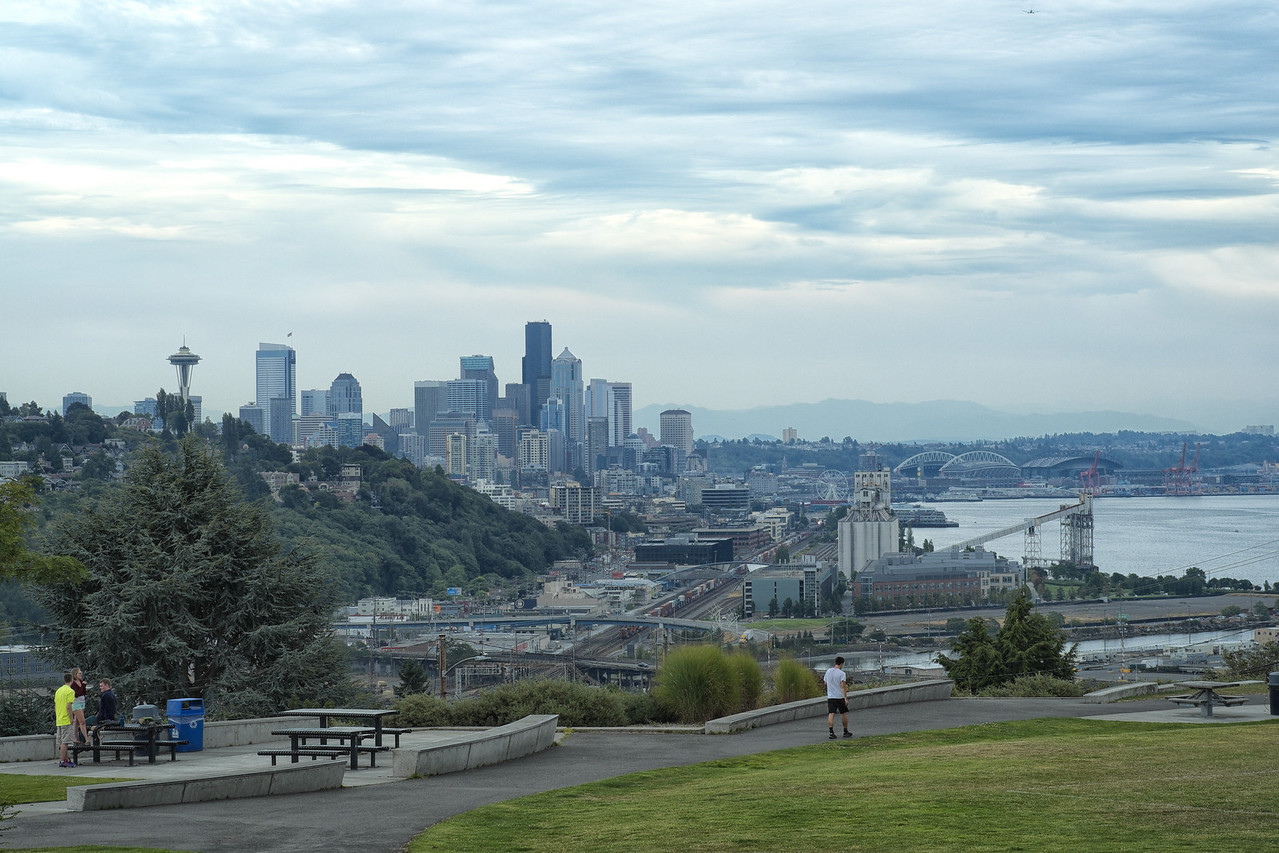 14 August 2013.  Seattle WA.  View from Ella Bailey Park.
