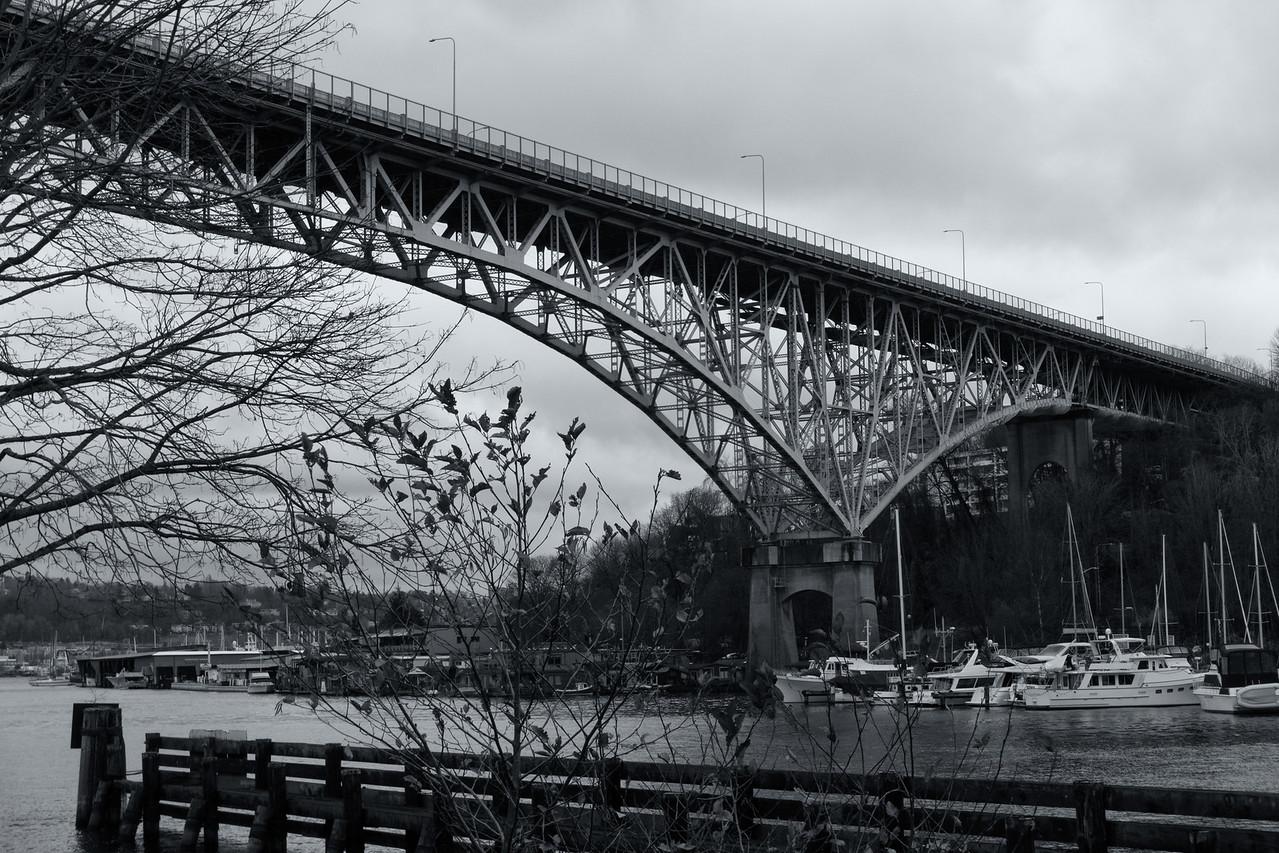 20151220.  Aurora Avenue Bridge over Lake Washington Ship Canal.
