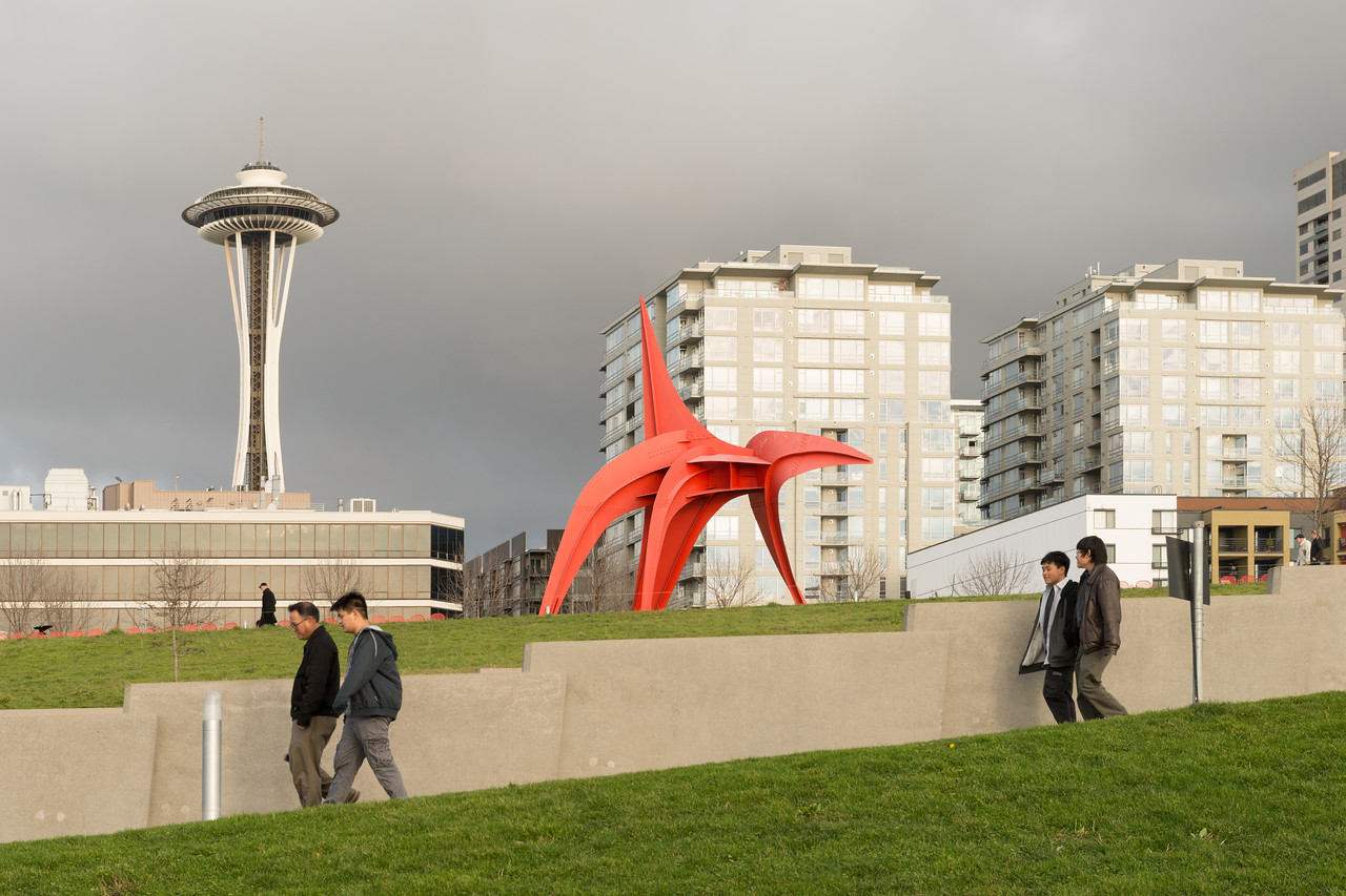 """20141225.  Olympic Sculpture Park, Seattle WA.  """"The Eagle"""" by Alexander Calder."""