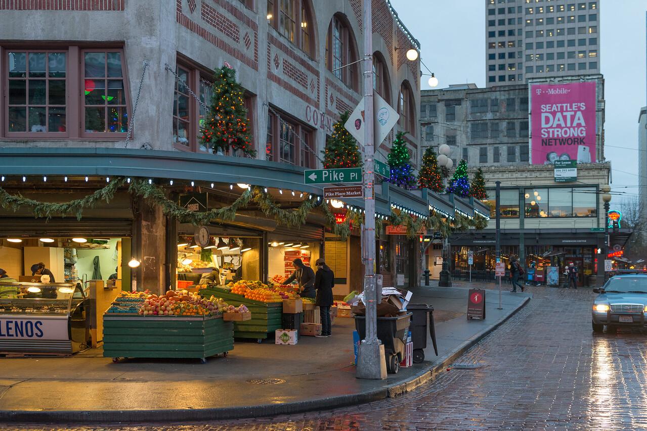 20141223. Shops across from Public Market Center on PIke Place, Seattle WA.