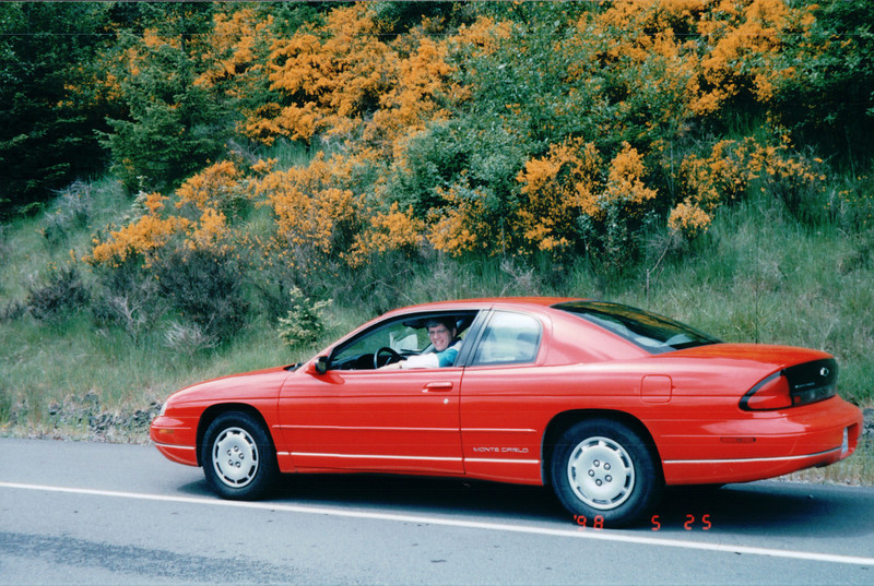 Our Rental Car on Washington State Highway - May 1998