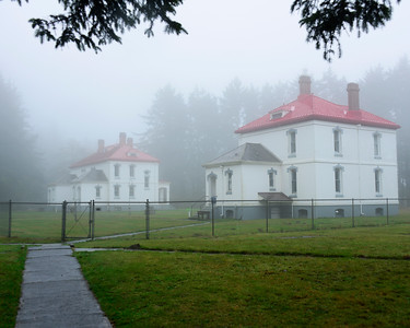 Light Keepers Residence - North Point Lighthouse - Cape Disappointment - Washington Travel Photography - USA