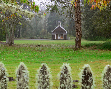 Oysterville Historic Schoolhouse - Oysterville - Washington Travel Photography - USA