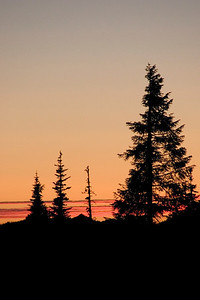 sunset, hurricane ridge