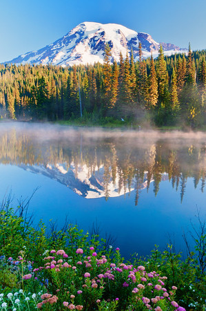 Mount Rainier and Reflection Lake, Mt. Rainier National Park, Washington