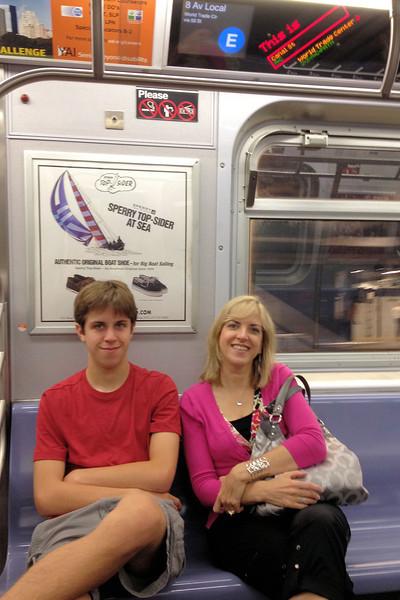 Jacob and Elizabeth on the subway
