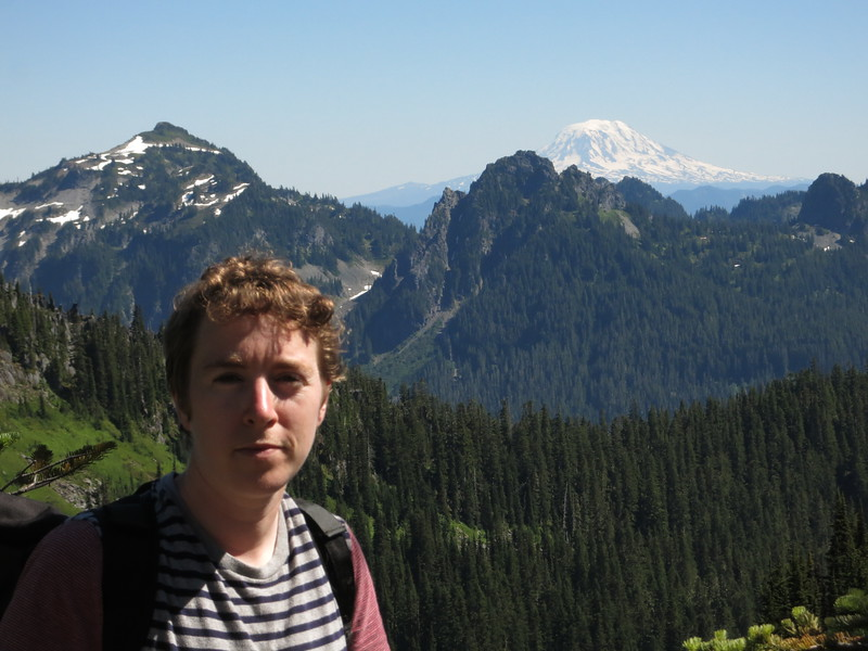 Flora with Mt. Adams.