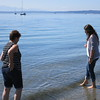 After touring the UW campus, we went to Golden Gardens Park so Katelyn could dip her feet in the Pacific Ocean for the first time, while Ann watched.