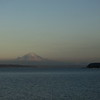 Mt. Rainier at sunset over Puget Sound.