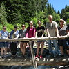 Flora, Heather, Lindsey, Katelyn, Ellie, Casey, me, Ann, Lisa at Lower Comet Falls.