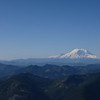 Looking south from the top of Mt. Defiance, I could see Mt. Rainier (40 miles away) and Mt. Adams (85 miles away).