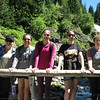 Lindsey, Katelyn, Ellie, Casey, Flora at Lower Comet Falls.