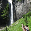 Ellie, Katelyn, Casey, Lindsey at Upper Comet Falls.