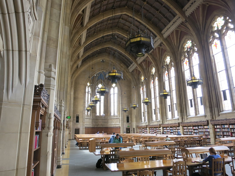 The reading room in Suzzallo Library.