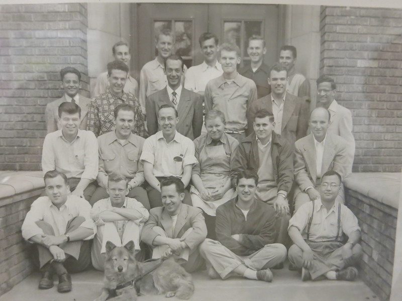 Dad is second row, third from the left.