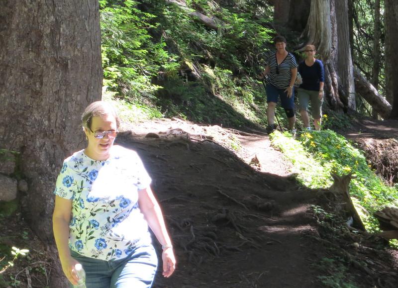 Heather, Ann, and Lisa near Upper Comet Falls.