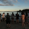 We took the ferry from Bremerton to Seattle at sunset. Here are Lisa, Ann, Heather, Katelyn, Lindsey, Casey, and Ellie looking at Mt. Rainier.