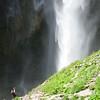 Flora explores Upper Comet Falls.