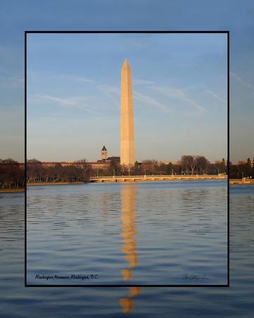Washinton Monument with George Washington Masonic Monument in background