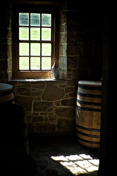Window light in Washington's distillery.