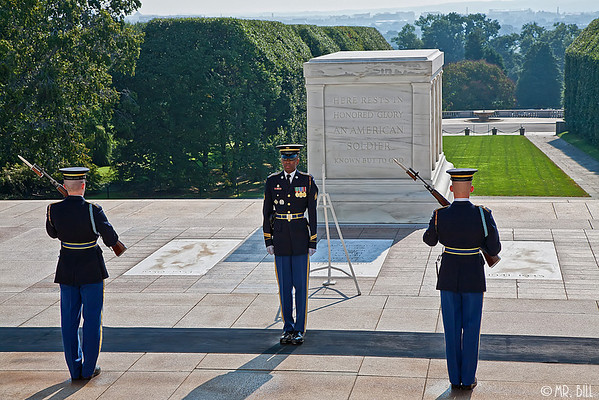 Changing of Guard at the Tomb of the Unknown Soldiers
