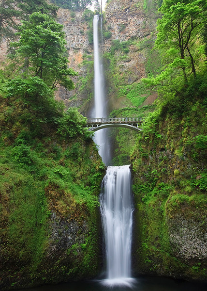 Multnomah Falls in the Columbia River Gorge - 620 feet tall