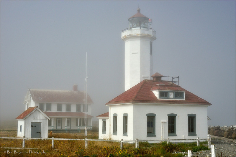 Point Wilson Lighthouse, near Port Gamble, marks the west entrance to Puget Sound. It is on the National Register of Historic Places. The light was automated in 1976.