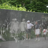 They Will Always Be With Us<br /> <br /> Reflection of Korea War Memorial and Visitors