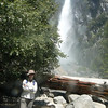Lower Yosemite Falls on a calmer day