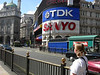 Our hotel and Picadilly Circus
