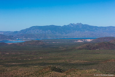 Four Peaks, Roosevelt Lake, and the Salome Wilderness.