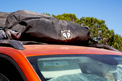 Roof bag adds more storage.