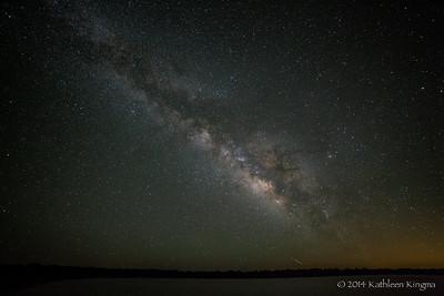 Meteor below the summer Milky Way.