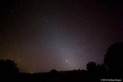 Zodiacal lights.