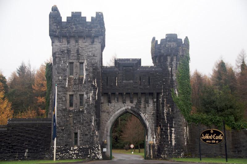 Entrance gate to Ashford Castle.