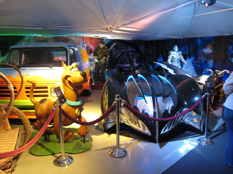 Warner Brothers Studios tour. The car room.